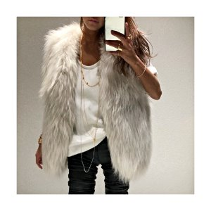 Pin raccoon Fur VEST