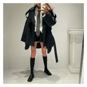 SS trench COAT (black)
